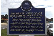 Annual Blues Festival Blues Marker